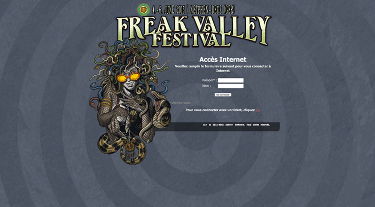 Freak Valley captive portal